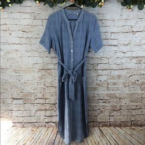 Soft Surroundings Button Down Cotton Linen Dress